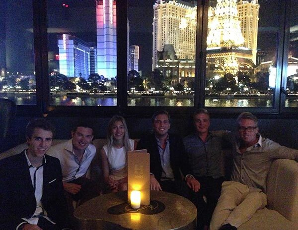 The group in Las Vegas