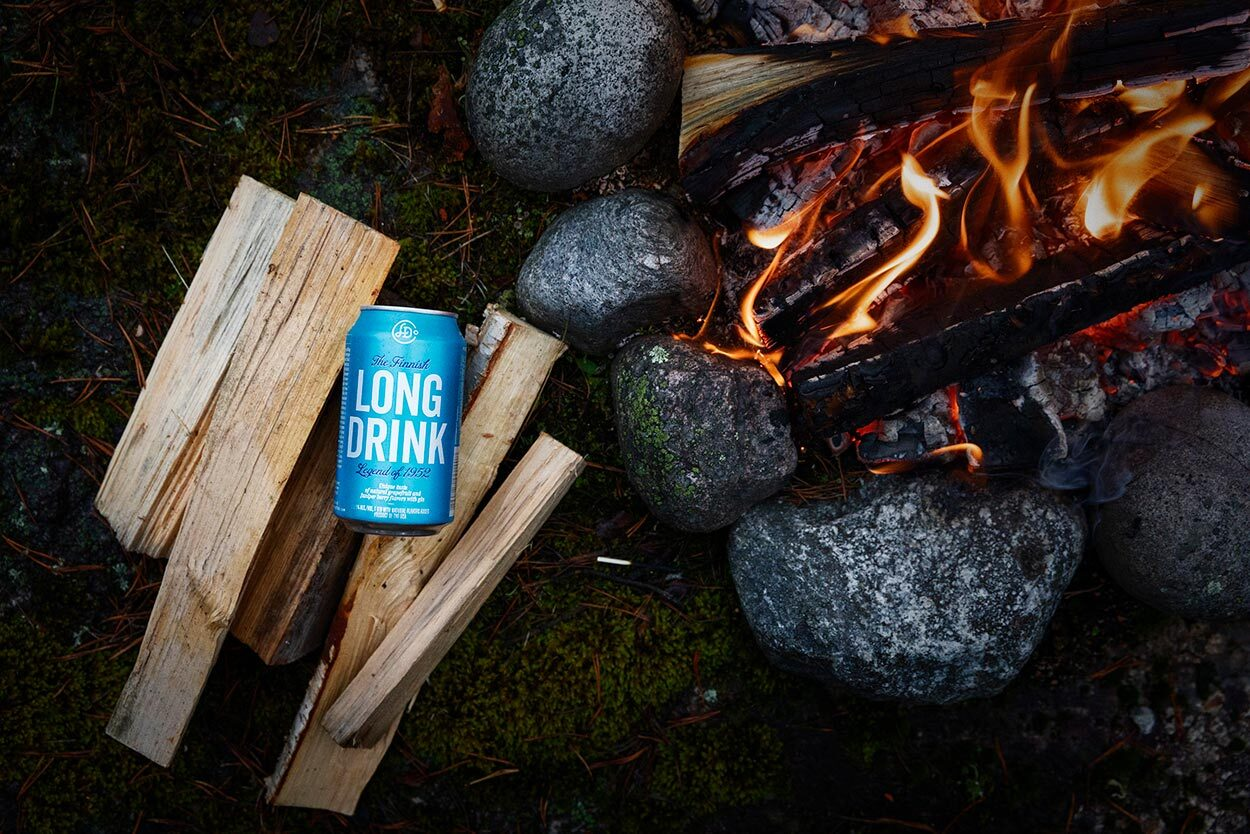 campfire and long drink